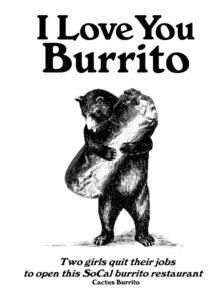 burrito love bear